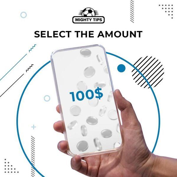select the deposit amount