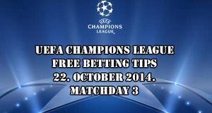 UEFA Champions League Free Betting Tips 22.10.2014.