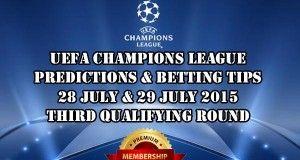 Champions League Prediction 28.07. - 29.07.2015.