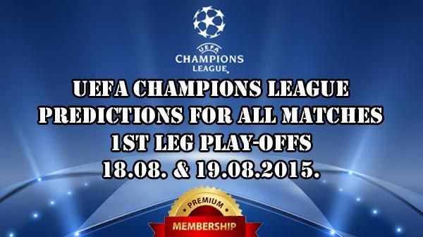 Champions League Play-offs Predictions 1st leg