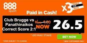 Club Brugge vs Panathinaikos Prediction and Betting Tips