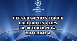 Champions League Prediction and Betting Tips 20.10.2015.