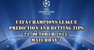 Champions League Prediction and Betting Tips 21.10.2015.