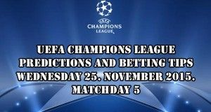 Champions League Prediction and Betting Tips 25.11.2015.