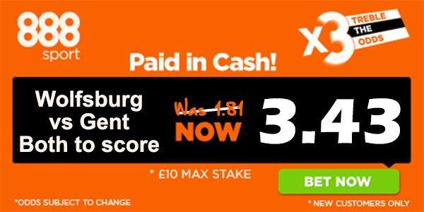 Wolfsburg vs Gent Bet and Prediction