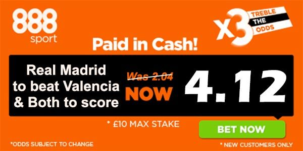 Real Madrid vs Valencia Prediction and Bet