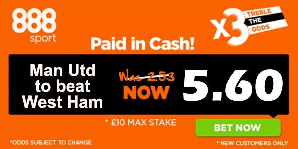 West Ham vs Manchester United Prediction and Bet