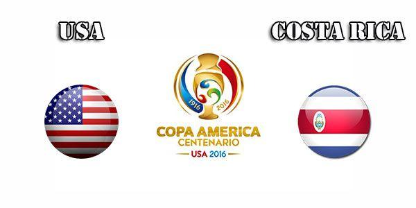 USA vs Costa Rics Live Online Logo Download Copa America 2016