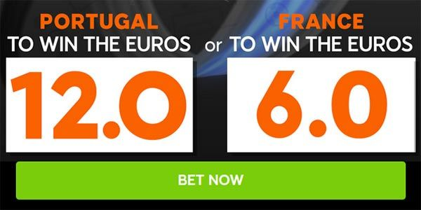 Portugal vs France Euro 2016 Final Betting Odds