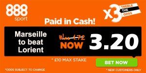 Marseille vs Lorient Prediction and Bet