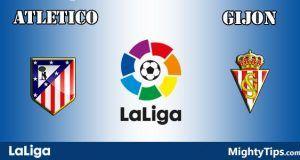 Atletico Madrid vs Gijon Prediction and Betting Tips