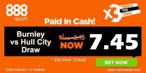 Burnley vs Hull City Prediction and Bet