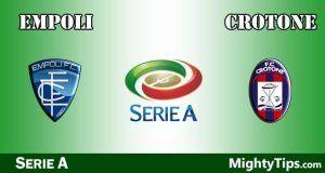 Empoli vs Crotone Prediction and Betting Tips