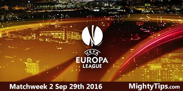 Europa League Predictions and Betting Tips Matchweek 2