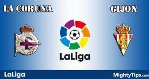 La Coruna vs Gijon Prediction and Betting Tips