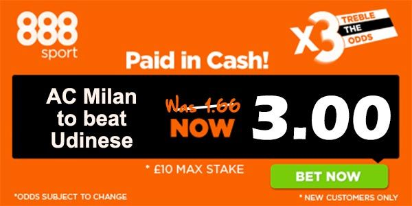 Milan vs Udinese Prediction and Bet