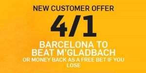Monchengladbach vs Barcelona Prediction and Bet