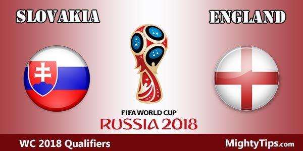 Prediksi : England vs Slovakia : Selasa, 05 September 2017