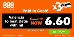 Valencia vs Betis Prediction and Bet