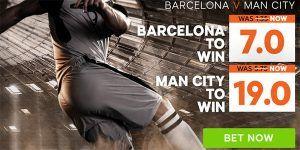 Barcelona vs Man City Prediction and Bet