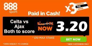 Celta vs Ajax Prediction and Bet