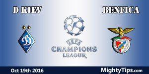 Dynamo Kiev vs Benfica Prediction and Betting Tips