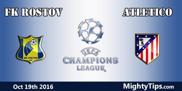 Ver en vivo Rostov vs Atlético de Madrid 19/10/2016 - em Directo