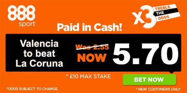 La Coruna vs Valencia Prediction and Bet