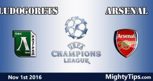 Ludogorets vs Arsenal Prediction and Betting Tips