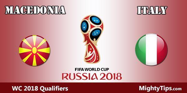Macedonia vs Italy Prediction and Betting Tips