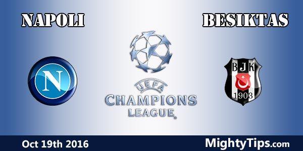 Assistir Napoli vs Besiktas hoje ao vivo 19/10/2016