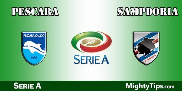 Pescara x Sampdoria ao vivo
