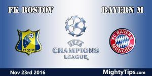 FK Rostov vs Bayern Prediction and Betting Tips