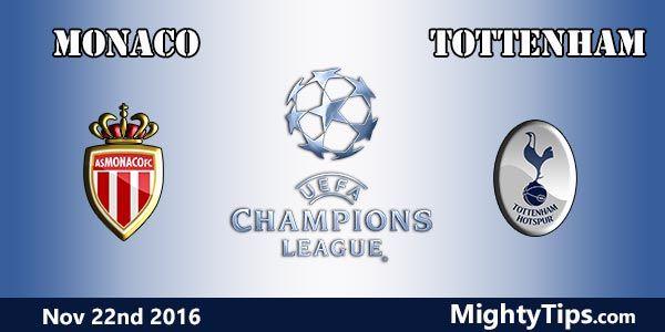 Monaco vs Tottenham Prediction and Betting Tips