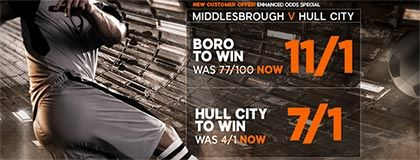 Bet on match Boro vs Hull