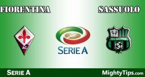 Fiorentina vs Sassuolo Prediction and Betting Tips