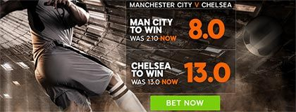 Bet on Man City vs Chelsea