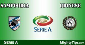 Sampdoria vs Udinese Prediction and Betting Tips