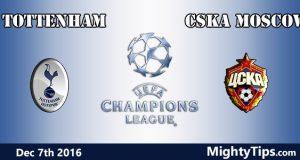 Tottenham vs CSKA Moscow Prediction and Betting Tips