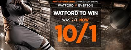 Bet on Watford vs Everton