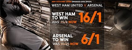 Bet on West Ham vs Arsenal