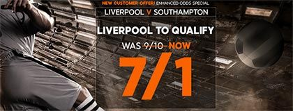 Bet on Liverpool vs Southampton
