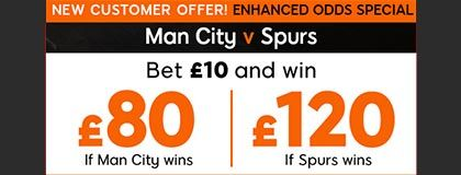 Bet on Citizens vs Spurs