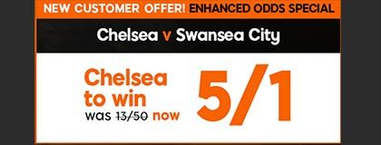 Bet on Chelsea vs Swansea