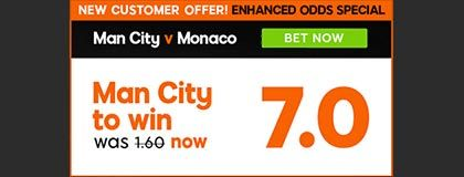 Bet on the Manchester City vs Monaco