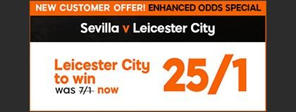 Bet on the Sevilla vs Leicester