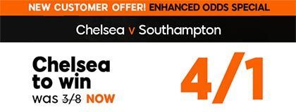 Bet on Chelsea vs Saints