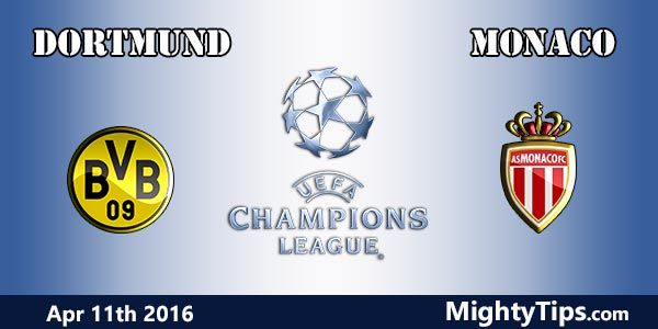 Dortmund vs Monaco Prediction and Betting Tips