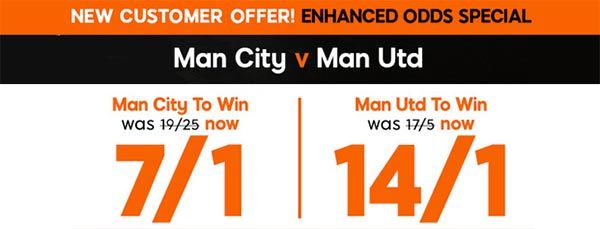 Citizens vs Red Devils Bet and Enhanced Odds
