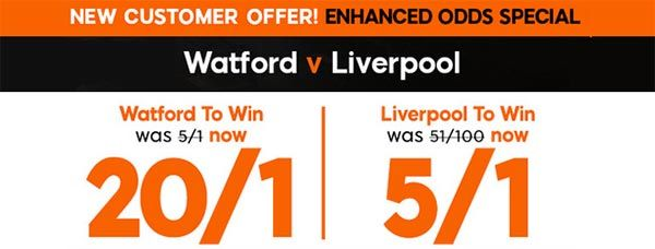 Watford vs Liverpool Prediction and Bet